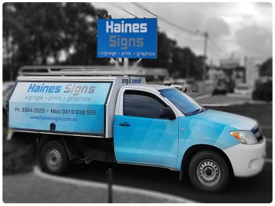 signs design graphic car wrap